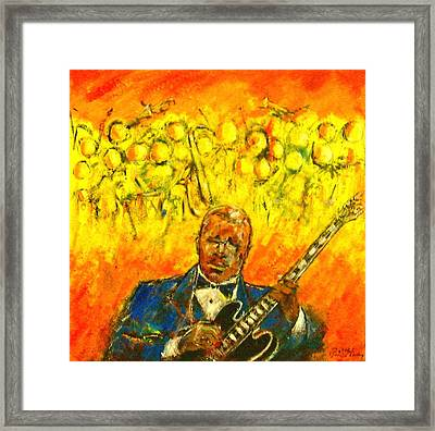 Blues Man Framed Print by Aaron Harvey