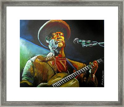 Blues Man Framed Print