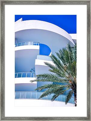Blues Of Miami Framed Print by Karen Wiles