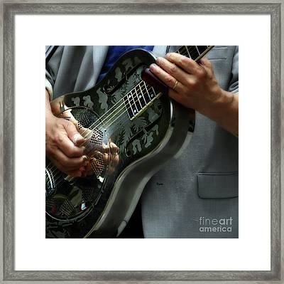 Blues Of Steel  Framed Print by Steven Digman