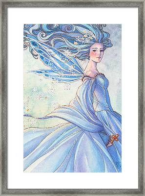 Blues Of Winter Framed Print by Sara Burrier