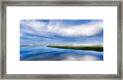 Blues On Moon River - Panorama Framed Print by Mark E Tisdale