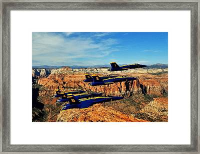Blues Over Zion Framed Print by Benjamin Yeager