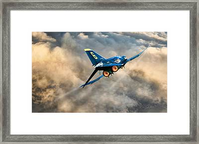 Blues Power Framed Print by Peter Chilelli