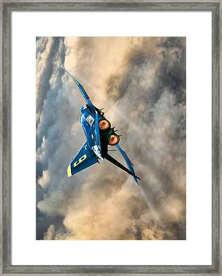 Blues Power Vertical Framed Print by Peter Chilelli