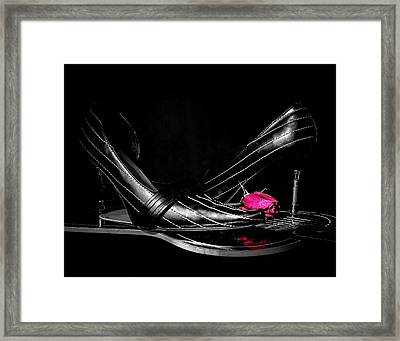 Blues Shoes Framed Print by EG Kight