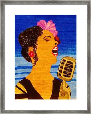 Blues Singer Framed Print by Celeste Manning