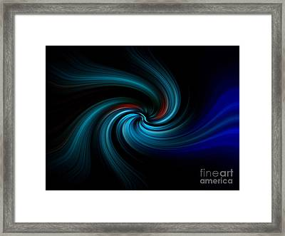 Blues Swirl Framed Print by Trena Mara