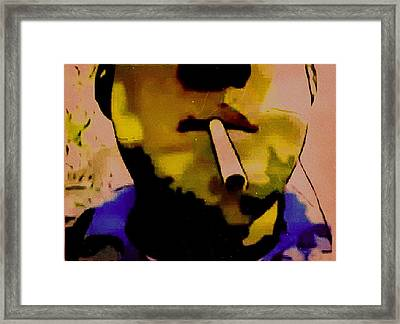 Blues Walker Framed Print