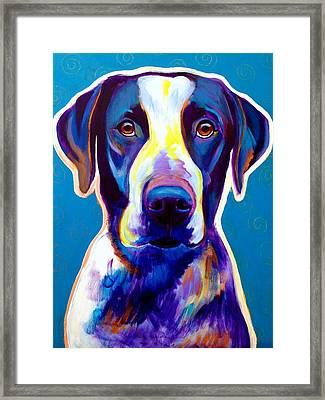 Bluetick Coonhound - Berkeley Framed Print