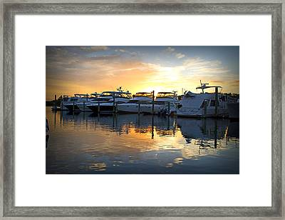 Bluewater Sunset Framed Print
