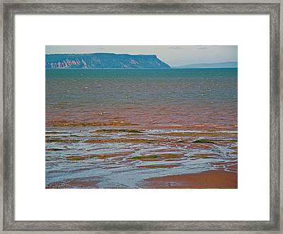 Bluff Over Minas Basin In Afternoon At Fundy Bay Near Grand Pre-ns Framed Print by Ruth Hager