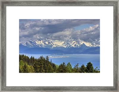 Bluff Overlooking Homer Spit, Alaska Framed Print by Michael Criss