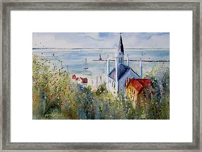 Bluff View St. Annes Mackinac Island Framed Print