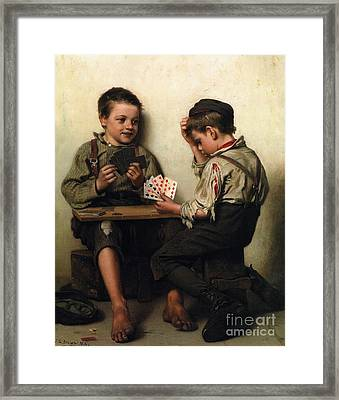 Bluffing Framed Print by Pg Reproductions