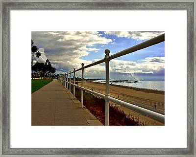 Framed Print featuring the photograph Bluff's Fence by Joseph Hollingsworth