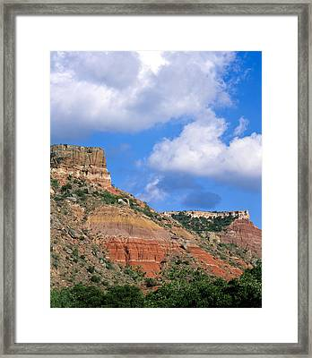 Bluffs In The Glass Mountains Framed Print