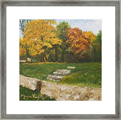 Bluffside In Autumn Framed Print