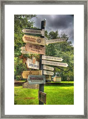 Bluffton - An Artsey State Of Mind Framed Print