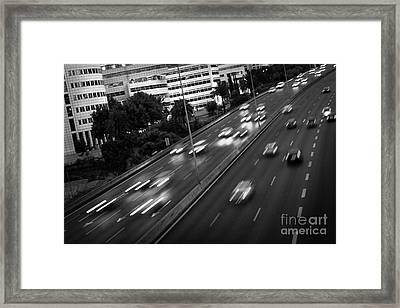 Blurred Cars Framed Print