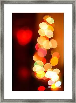 Blurred Christmas Lights Framed Print by Gaspar Avila