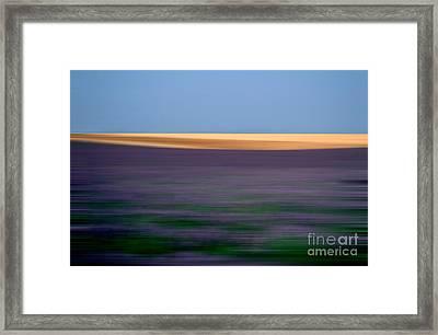 Blurred Landscape Framed Print by Bernard Jaubert