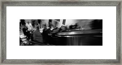 Blurred Motion, People, Grand Central Framed Print by Panoramic Images