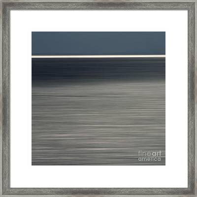 Blurred Sea Framed Print by Bernard Jaubert