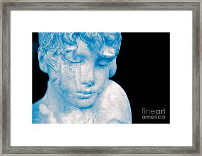 Blush Blue Framed Print by Cathy Dee Janes