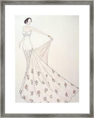 Blush Profusion  Framed Print by Christine Corretti