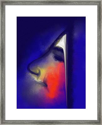 Blushing Framed Print by Franck Giraud