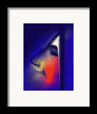 Bleu Visage Framed Prints
