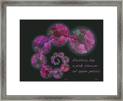 Blustery Day Haiga Framed Print by Judi and Don Hall