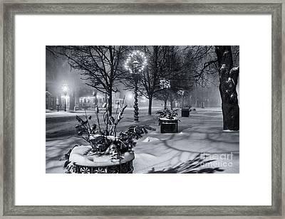 Blustery Winter Night Framed Print
