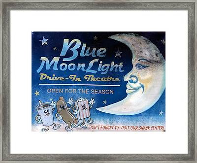 Classic Drive In Sign Framed Print