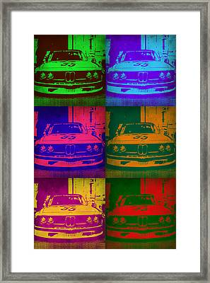 Bmw 2002 Front Pop Art 1 Framed Print