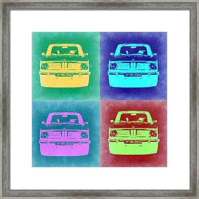Bmw 2002 Pop Art 1 Framed Print