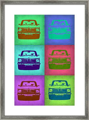 Bmw 2002 Pop Art 2 Framed Print