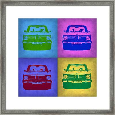 Bmw 2002 Pop Art 3 Framed Print