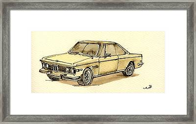 Bmw 3 Cs Coupe Framed Print by Juan  Bosco