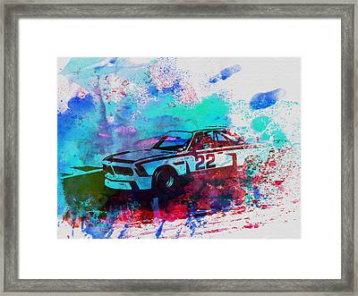 Bmw 3.0 Csl  Framed Print by Naxart Studio