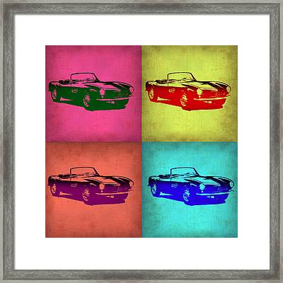 Bmw 507 Pop Art 1 Framed Print