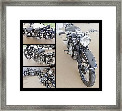 Bmw Art Deco Bikes Framed Print by Maj Seda
