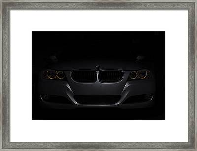Bmw Car In Black Background Framed Print