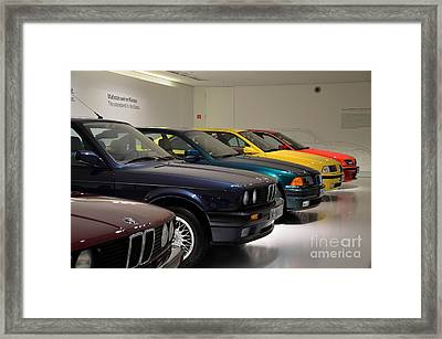 Bmw Cars Through The Years Munich Germany Framed Print