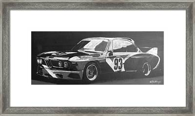 Bmw 3.0 Csl Alexander Calder Art Car Framed Print