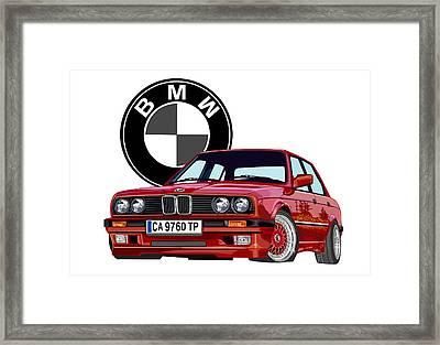 BMW Framed Print by DARRYL McPHERSON
