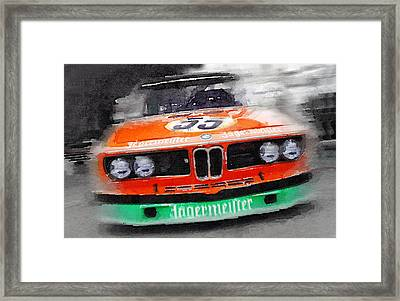 Bmw Front End Watercolor Framed Print by Naxart Studio