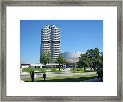 Framed Print featuring the photograph Bmw Head Quaters by Pema Hou