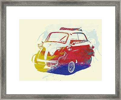 Bmw Isetta Framed Print by Naxart Studio